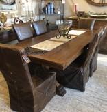 Co-ALBC Quater Sawn w/Oak 7' Trestle  Dining Table