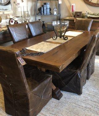 Co-ALBC Quater Sawn w/Oak 7' Trestle Table