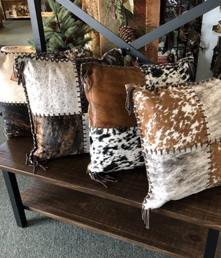 Gaucho 4 Panel, Laced Cowhide Pillow 20x20