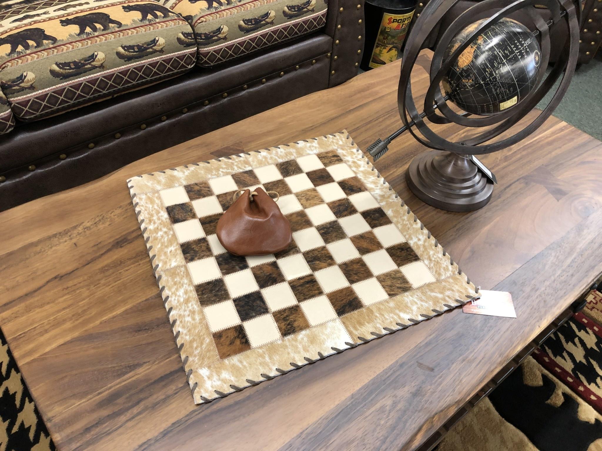 Gaucho Cowhide Checkerboard