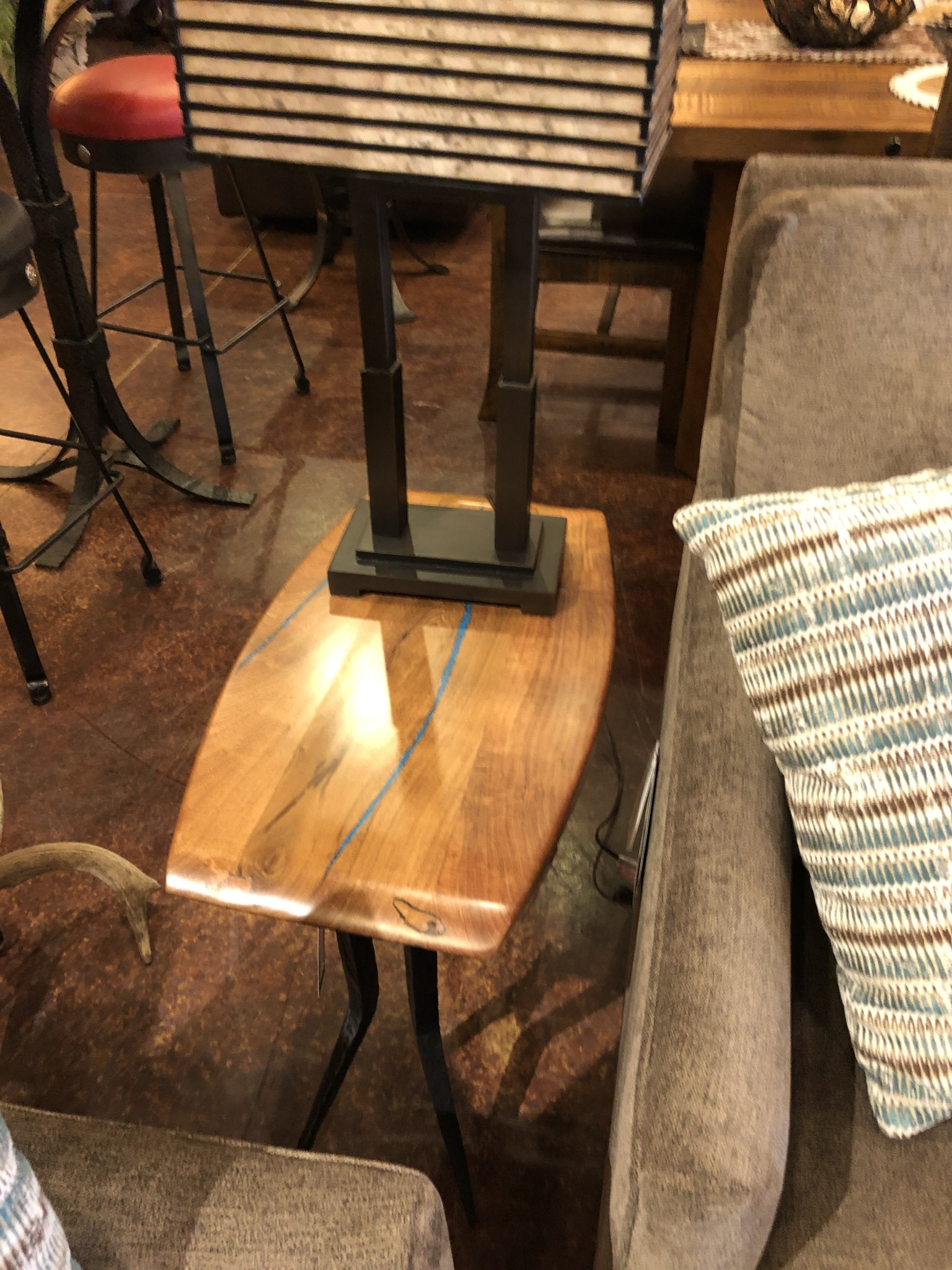 Green Gables Steel Traditions Keating Rectangle End Table