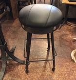 Green Gables Steel Traditions Clovis Swivel Barstool w/leather Seat
