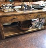Green Gables Mossy Oak Carver Point Sofa Table-Natural Bark