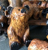 """Wood Carving Outlet 18"""" Carved Sitting Bear"""