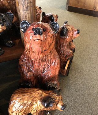 """Wood Carving Outlet 20"""" Carved Sitting Bear"""