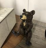 MCE Industries Rustic Resin Paperweight Bear
