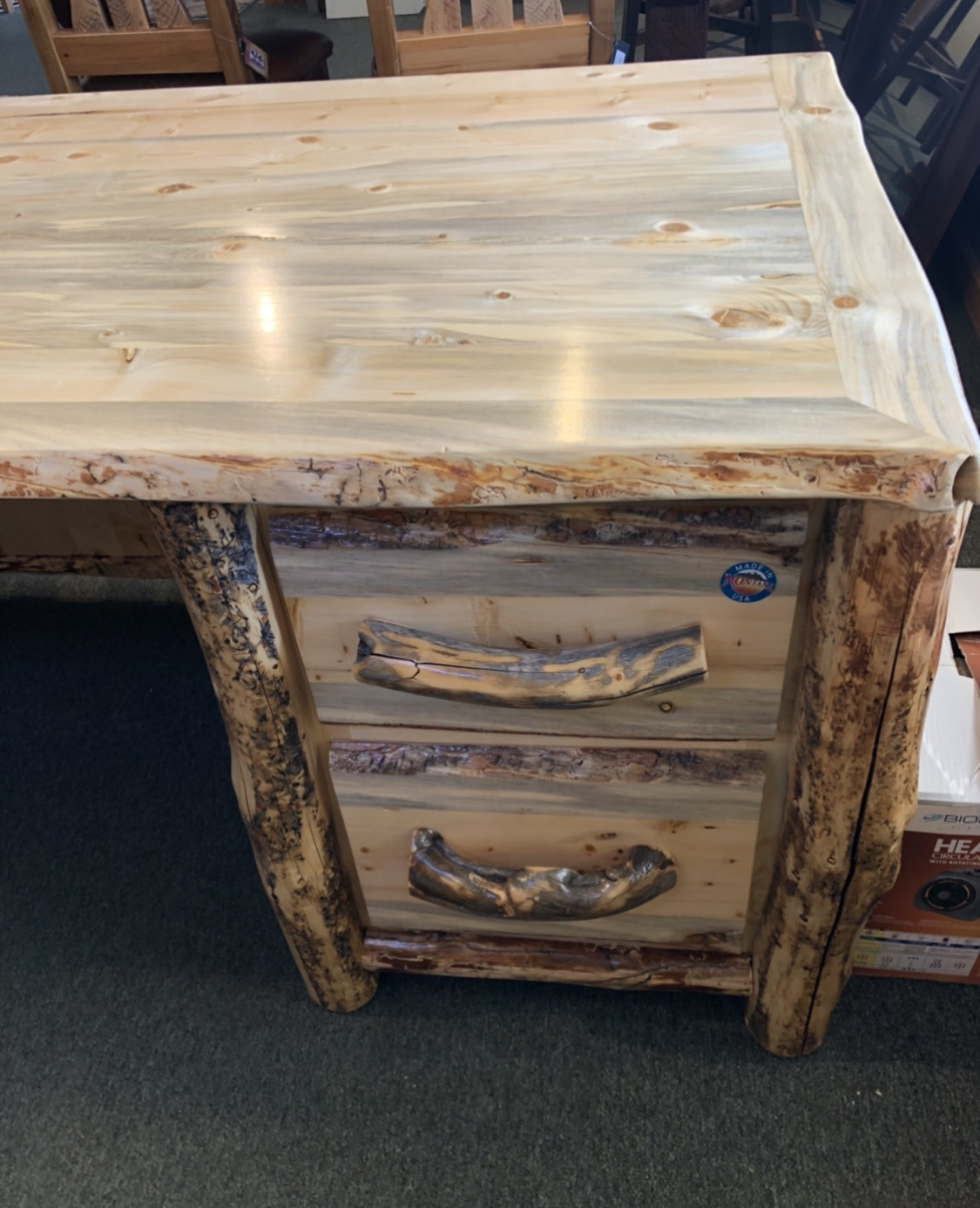 MCE Industries Rustic Log Desk