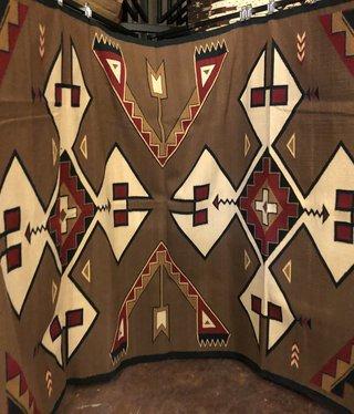"""Co-Escalante Zapotec """"Blue Indian Comb"""" 6.5x10  ER10154"""