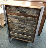 Green Gables Hampshire 5 Drawer Chest w/Silver Metal