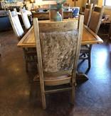 Co-ALBC Upholstered w/Hair on Hide Barnwood Chair