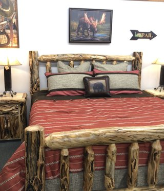 Rustic log Gnarly KING Bed
