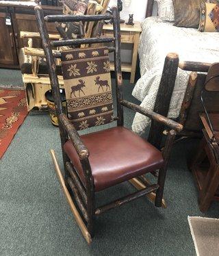 ALBC Upholstered Hickory Rocker   SO