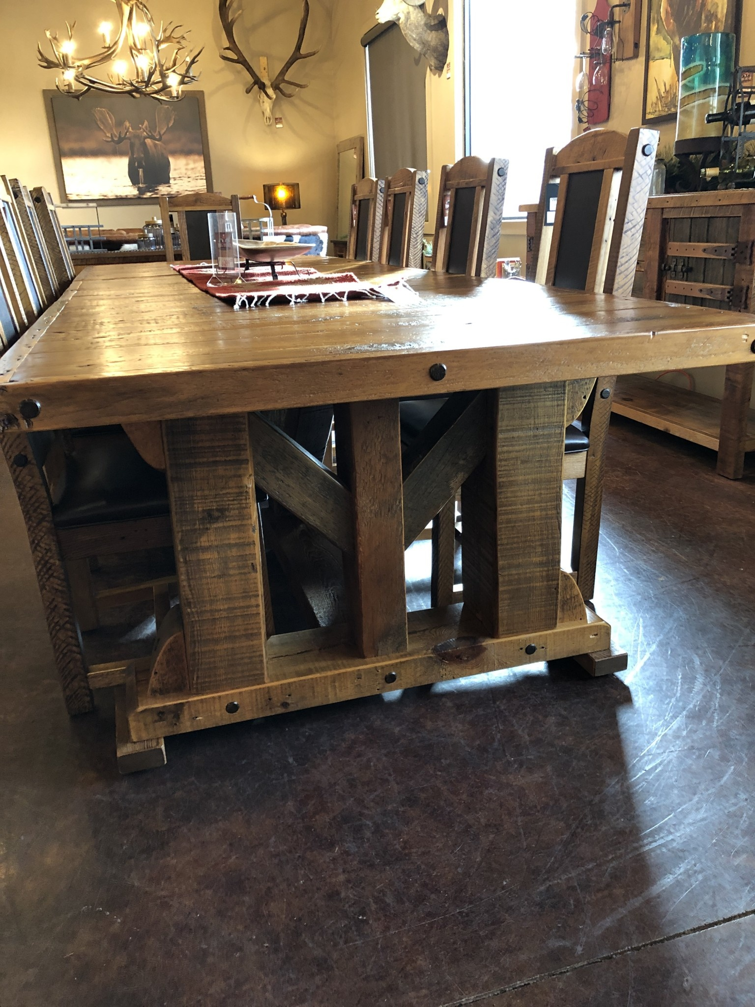 Green Gables Windy Stables King Ranch Extension Dining Table