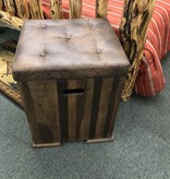 IFD 7864 Maya Trunk Chair Side Table 19x18x23 *****