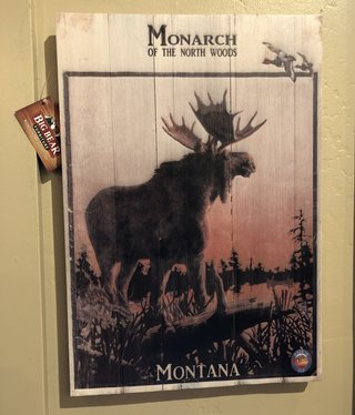 Classic Outdoor Magazines #20 Monarch Moose 14x20 Wood Sign