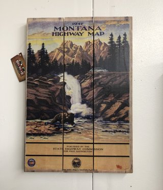 Classic Outdoor Magazines #9 1947 Montana Map 14x20 Wood Sign
