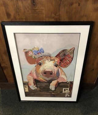 Simpkins-Canterbury Lane Collage 3D Art- Queen For A Day-Pig