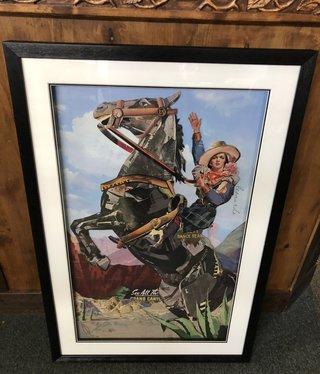 Simpkins-Canterbury Lane Collage 3D Art- Retro Cowgirl on Bronc