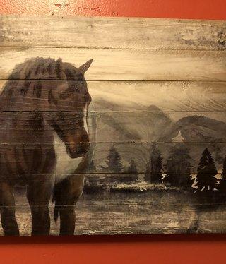 Simpkins-Canterbury Lane Wood Planks Wall Decor - Horse