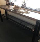 Juliann Iron Originals Timber Sofa Table w/Mesh Shelf  72L x 14.75D x 32.25H