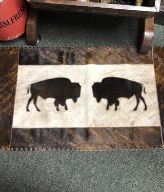 Gaucho 2 Buffalos Cowhide Rug 20x40
