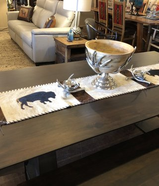 Gaucho Large Buffalo Cowhide Table Runner