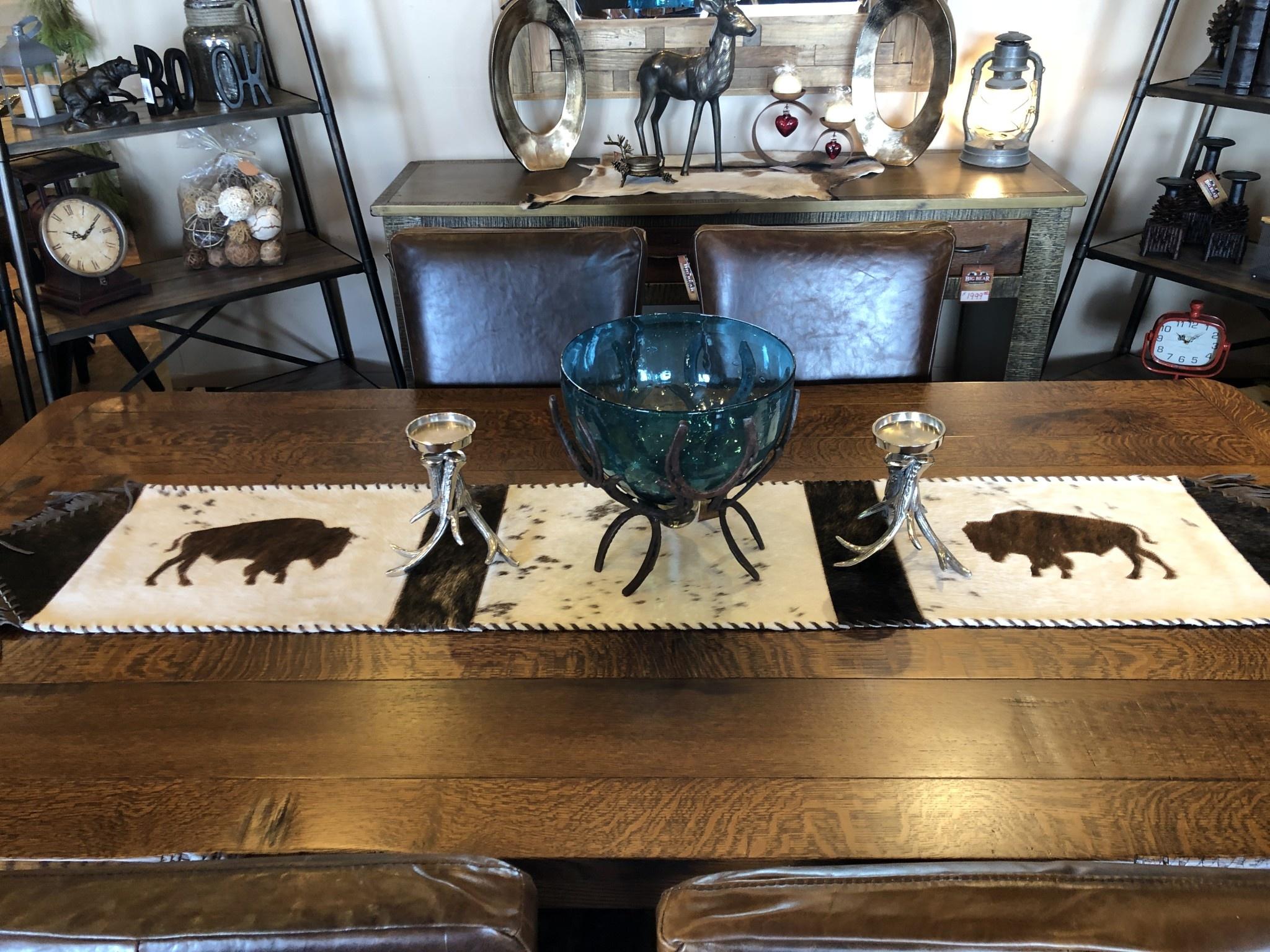 Gaucho Large Buffalo Cowhide Table Runner