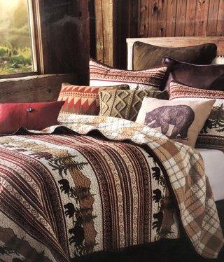 Hiend Bear Trail 3 pc Quilt Set - FULL/QUEEN