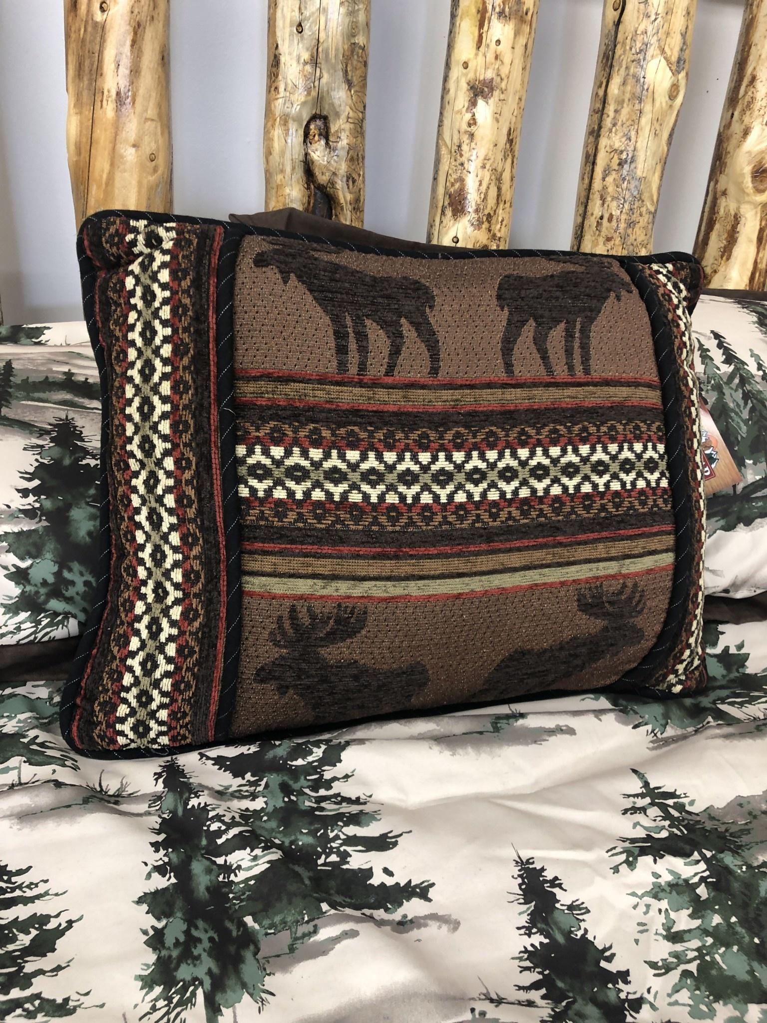 Hiend Oblong Moose Pillow 16x21