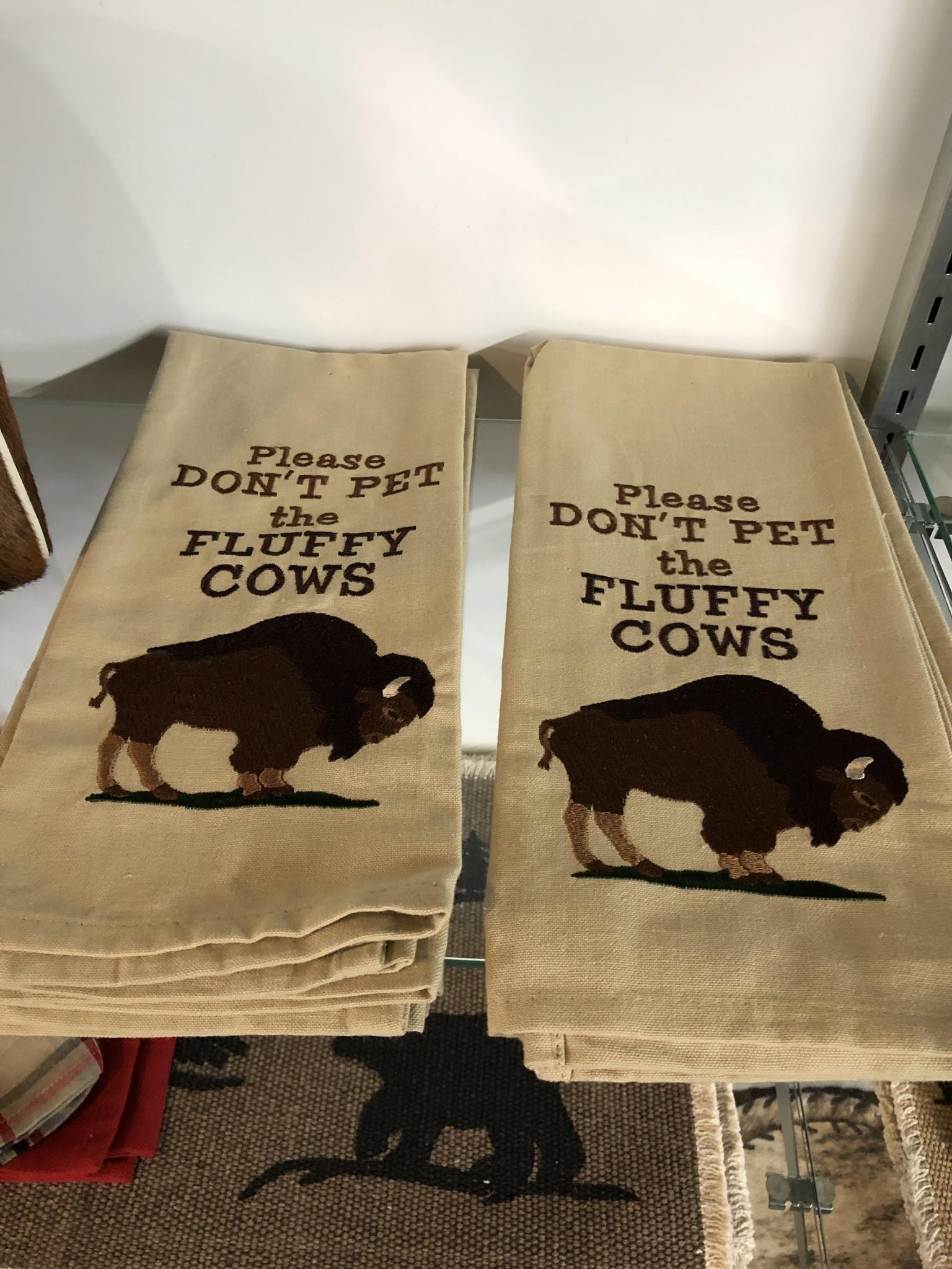 Park Design Fluffy Cow Dish Towel