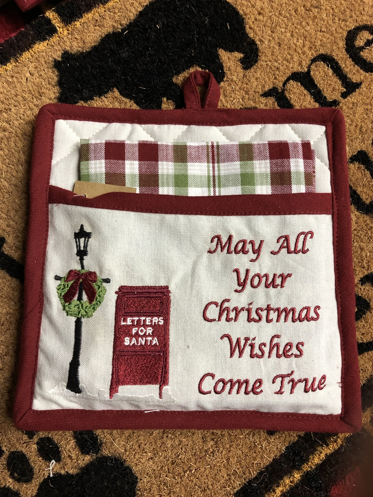 Park Design Santa's Mailbox Potholder Set