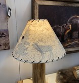 """Rustic log 19"""" Lampshade with Scene"""