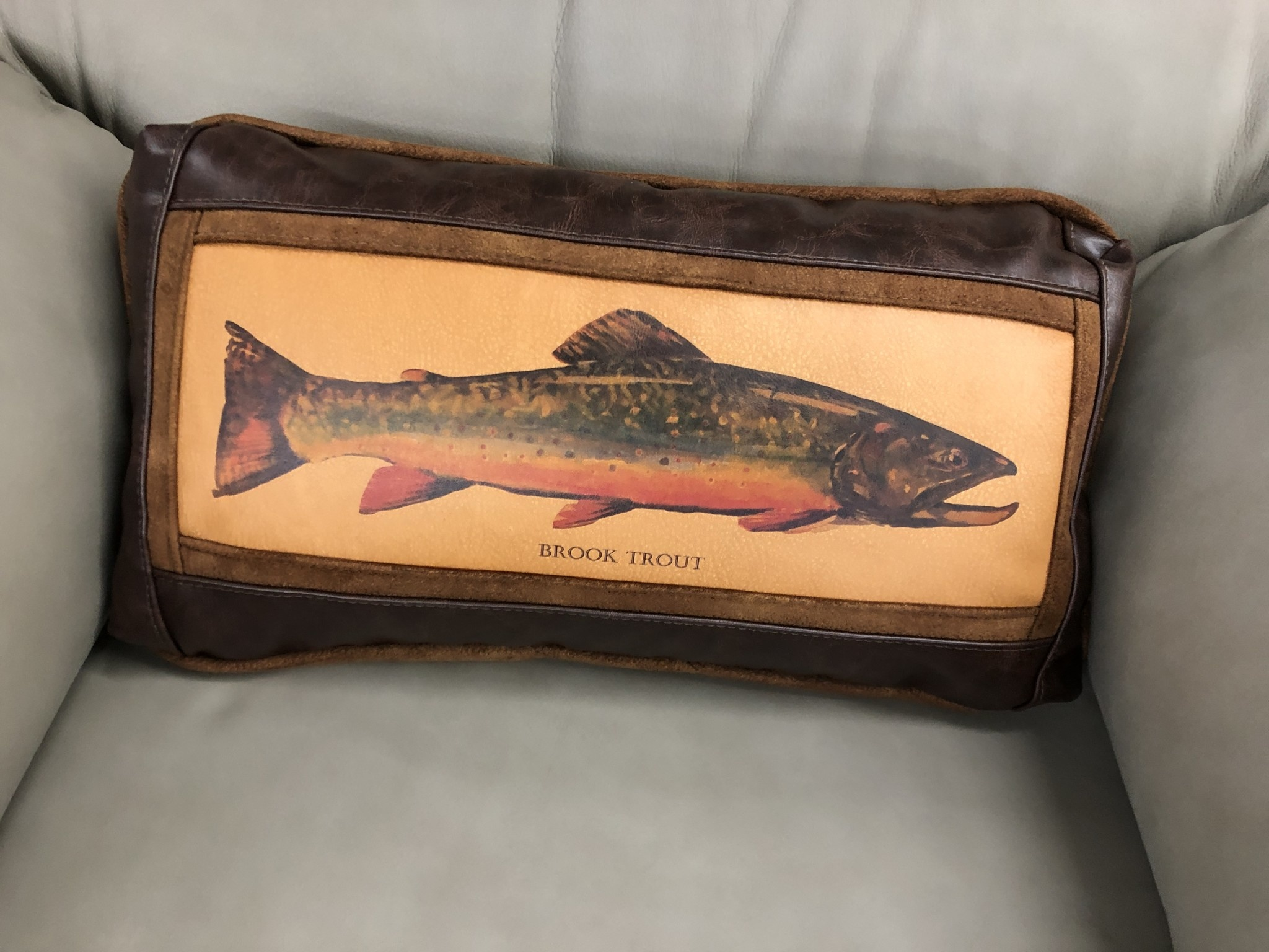 Sweetwater Trading Co Brook Trout  Lumbar Pillow