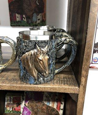Unison Gifts Wood Like Horse Mug