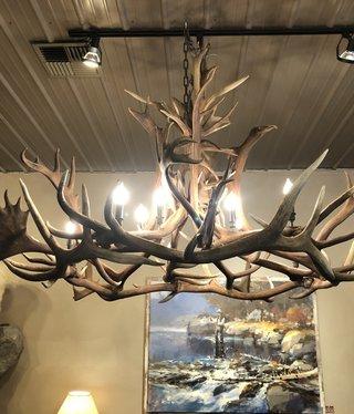 Fish Elk / BOU Chandelier with 10 Lights