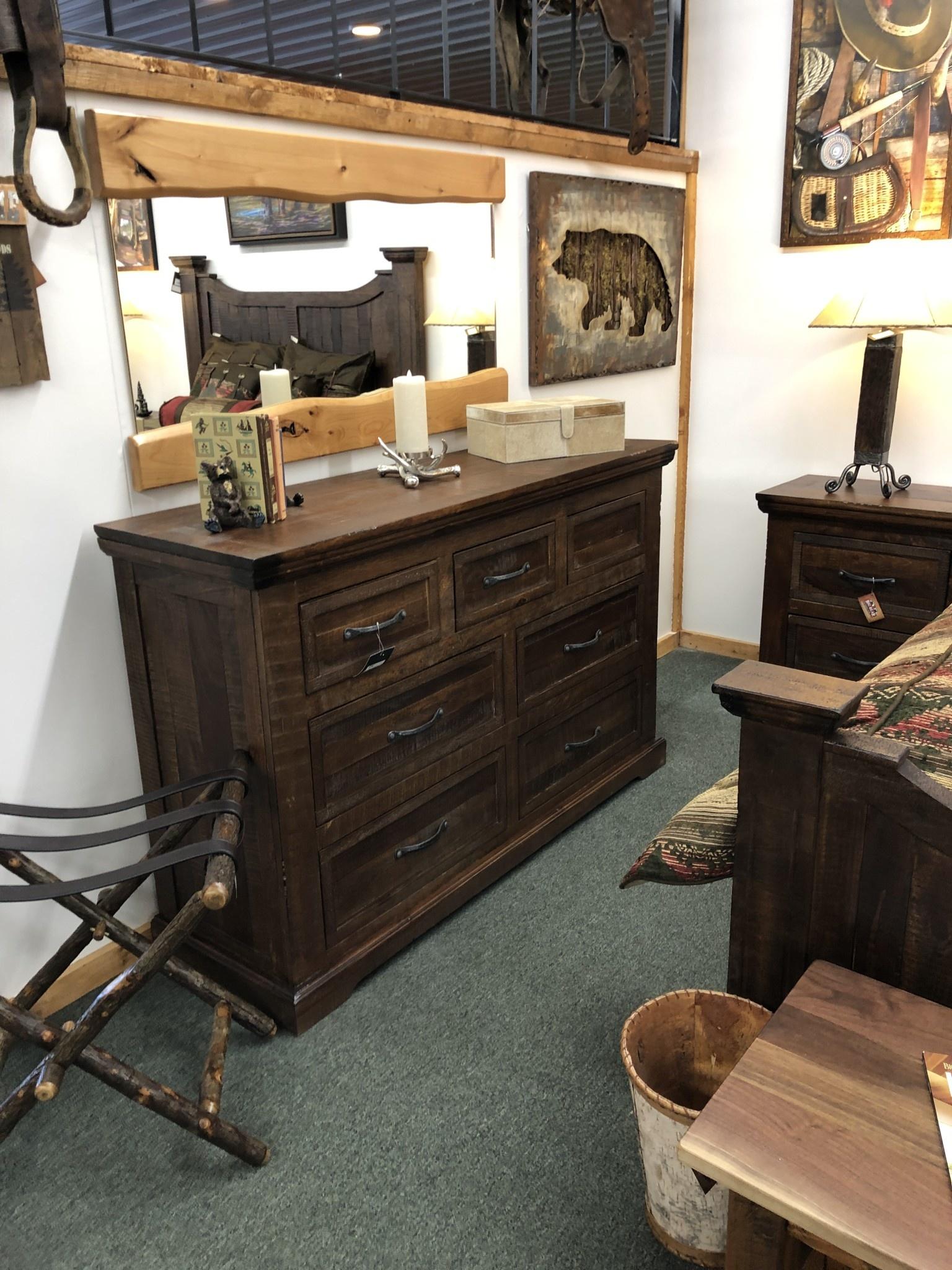 IFD 1200 Madeira 7 Drawer Dresser  61x19x39