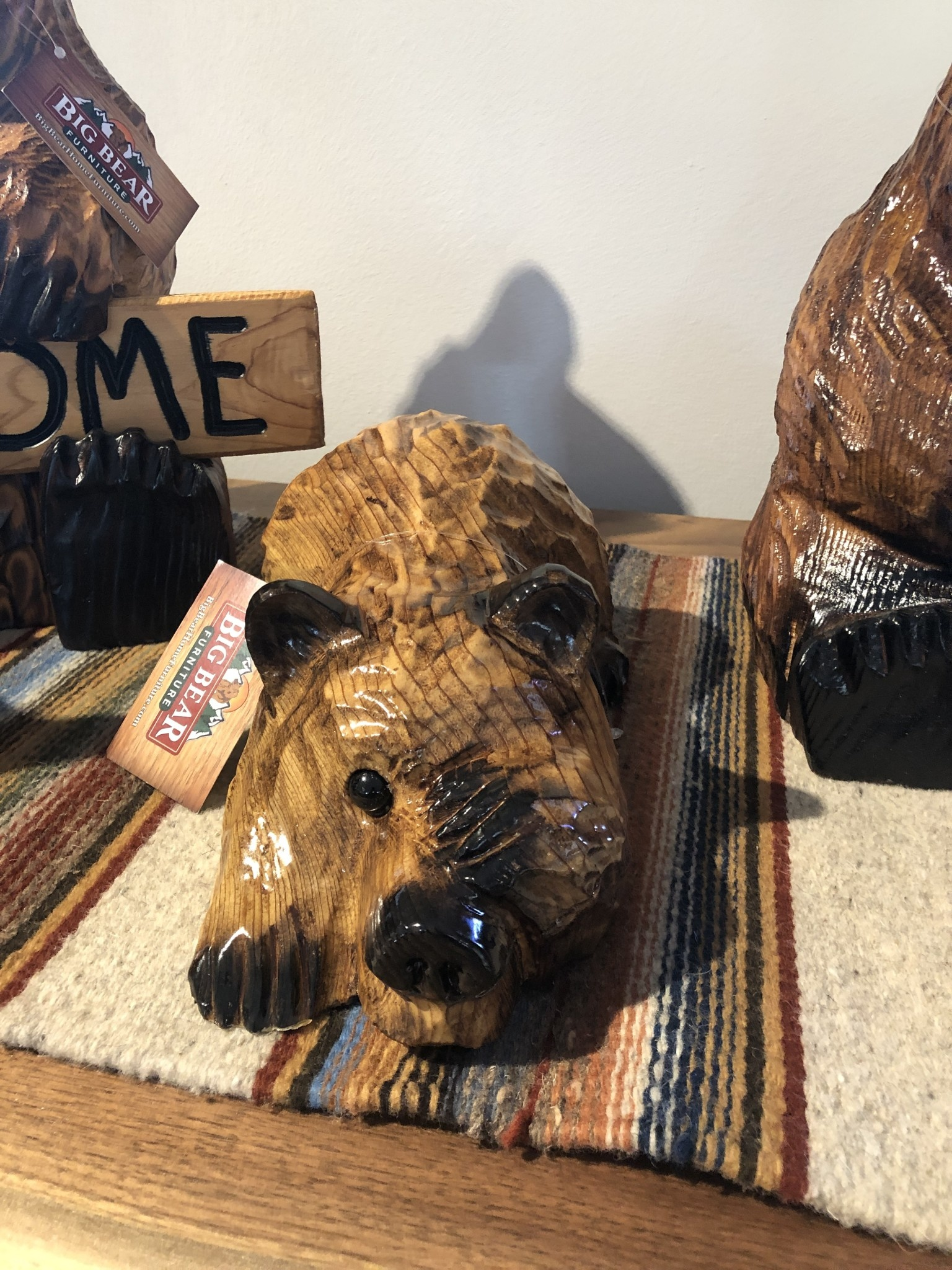 Wood Carving Outlet Small Peekaboo Bear
