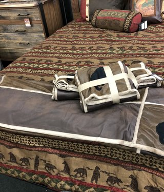 Adrian Hernandez Throw Blanket - BEAR 54x68