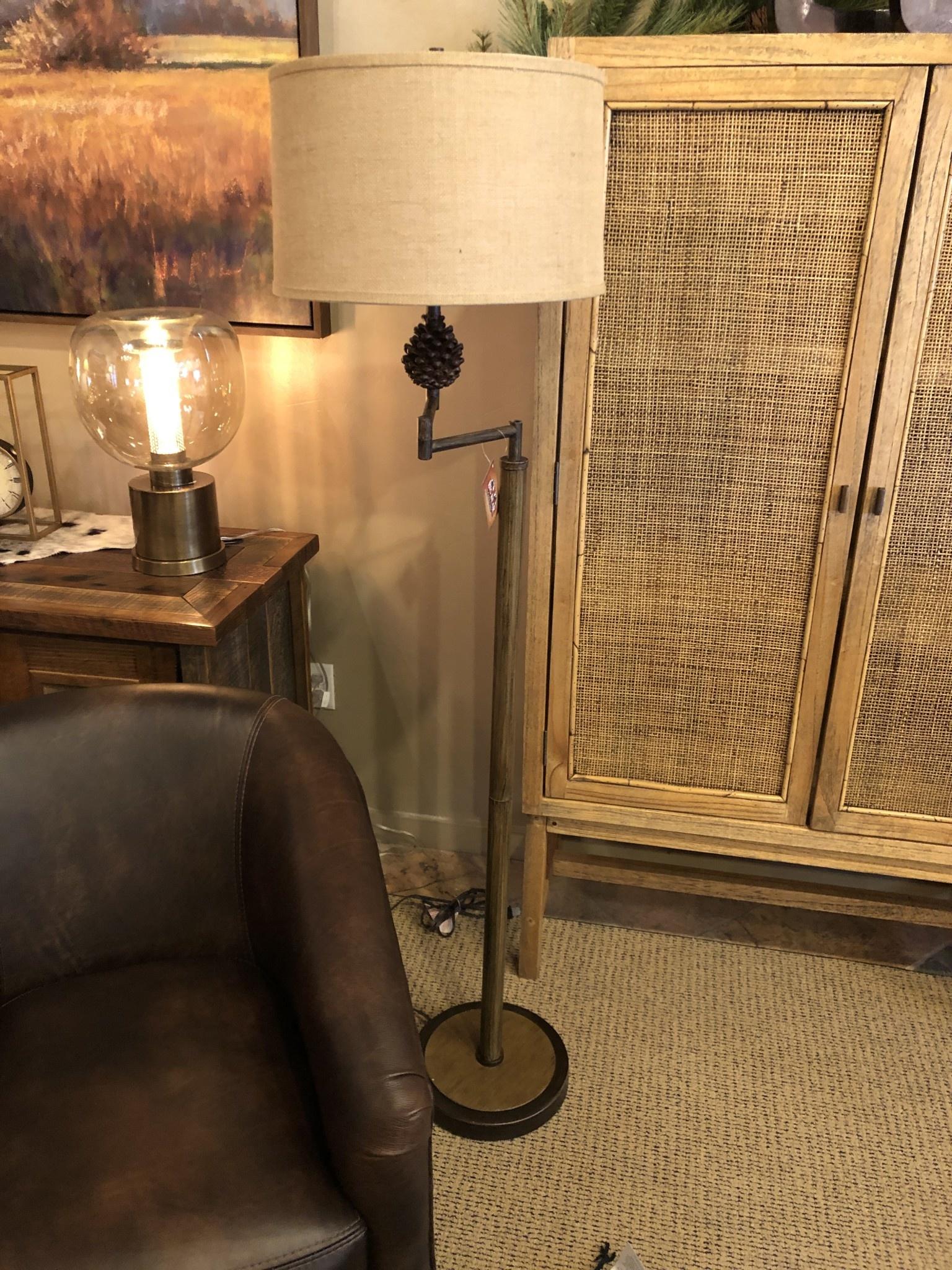 pacific coast Pinecliffe  Swing Arm Floor Lamp