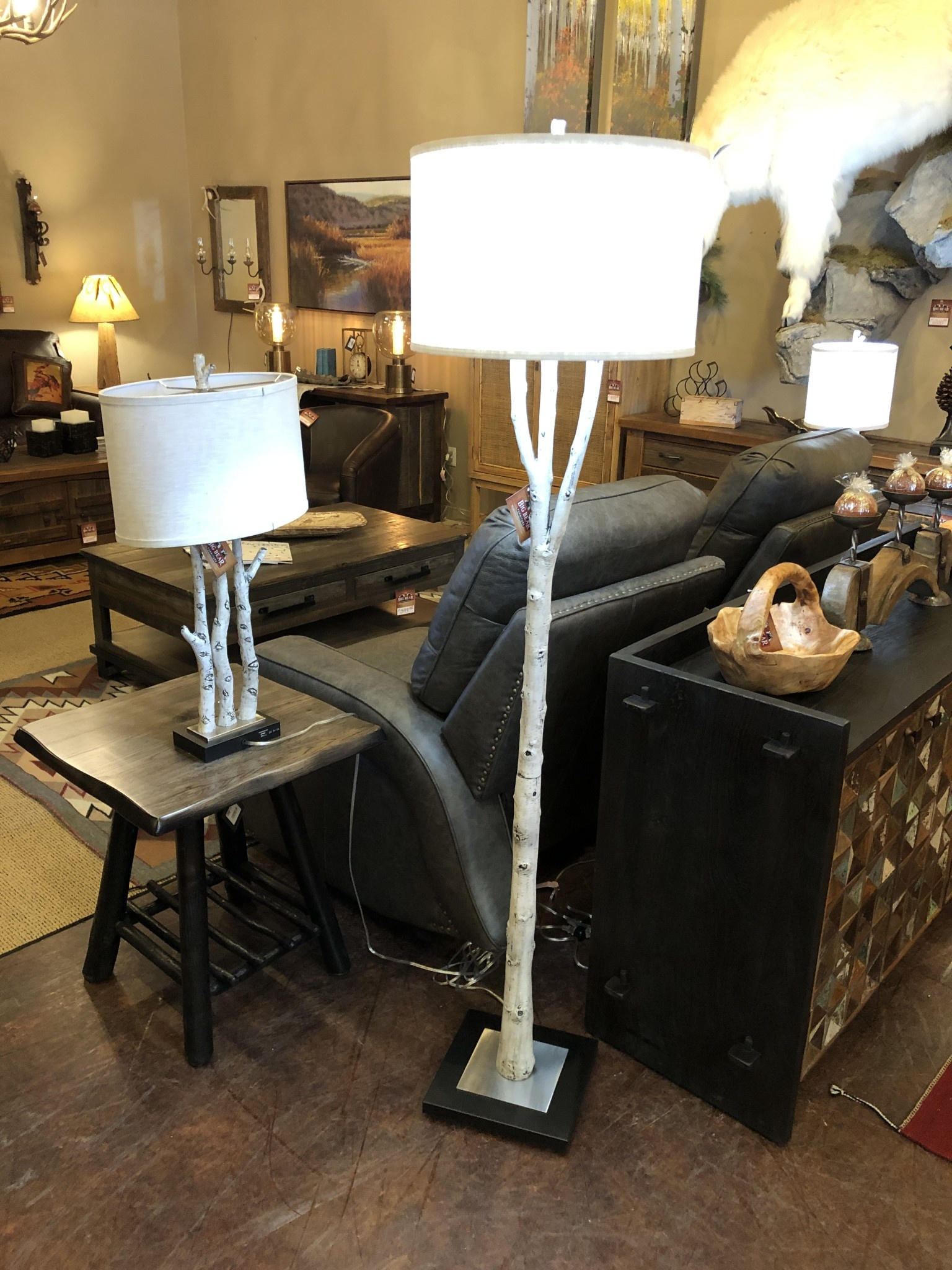 pacific coast White Forest Floor Lamp  17x17x69