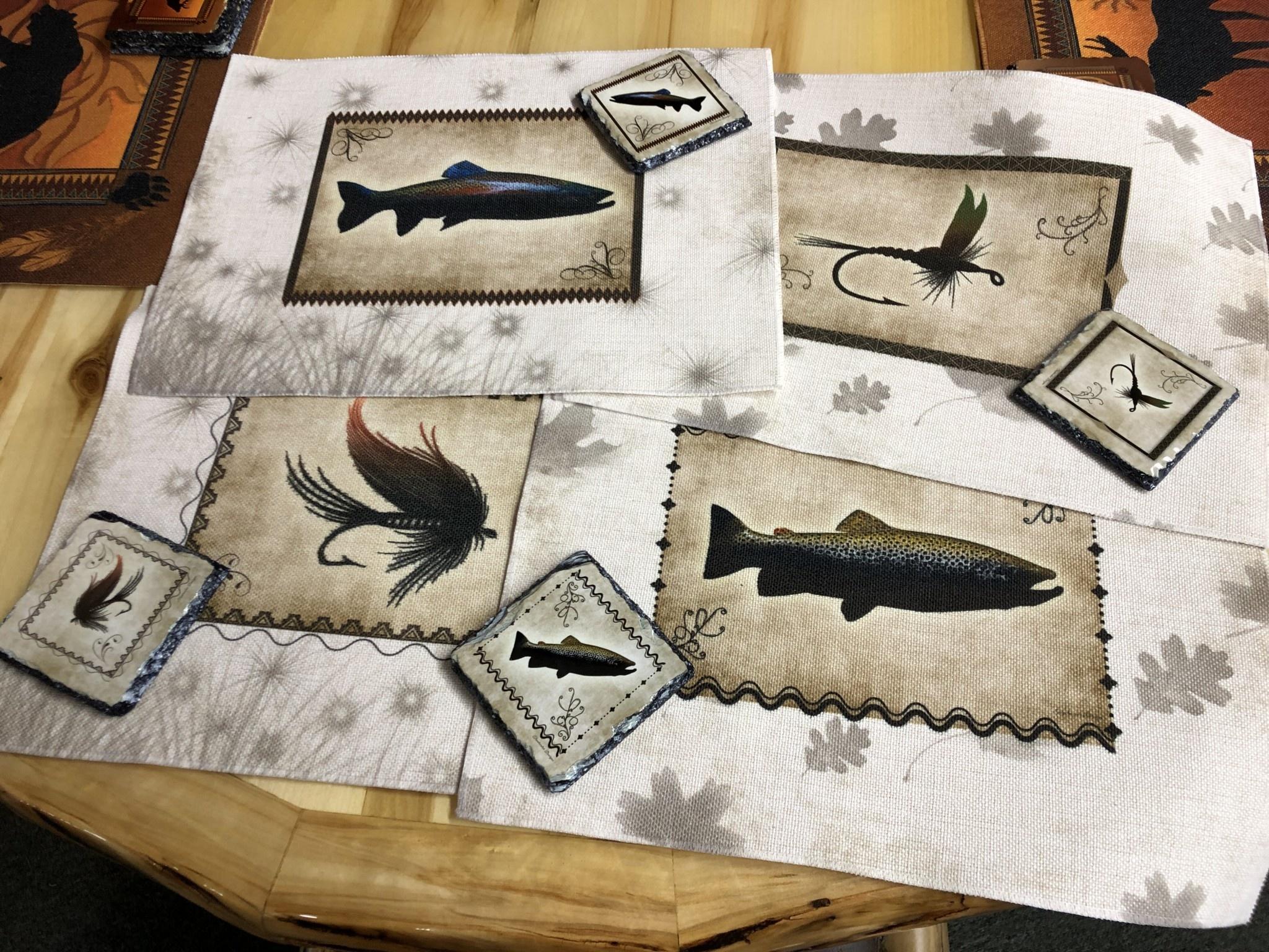 """Troutwater Designs Wildlife Placemat  15.5""""x 12"""""""