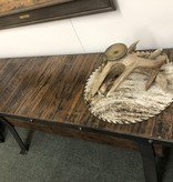 HTD Industrial Teak Console Table  66x18x32