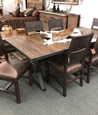 HTD Industrial Teak Dining Table  78x38x30