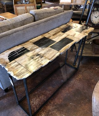 Uttermost Iya Console Table 48x30x16 (petrified wood top)