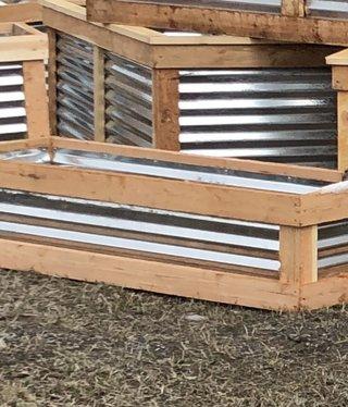"""Co-Rustic North 2' x 16"""" x 6'L, Strawberry Planter Box"""