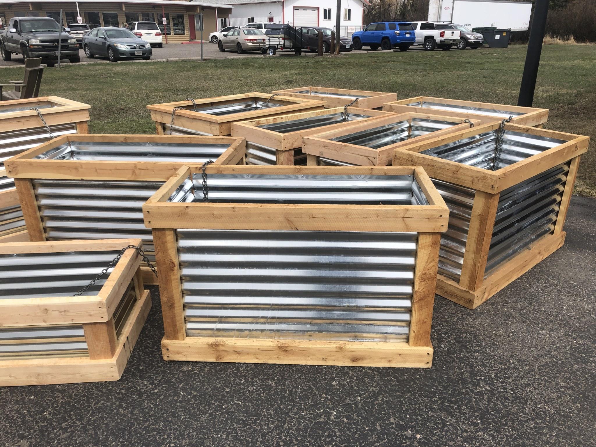 """Co-Rustic North 2' x 4' x 30""""H, Planter Box"""