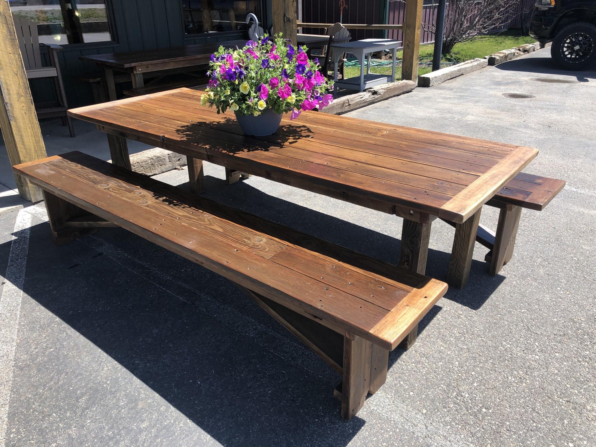 Stevenz Company Reclaimed Redwood Harvest Table