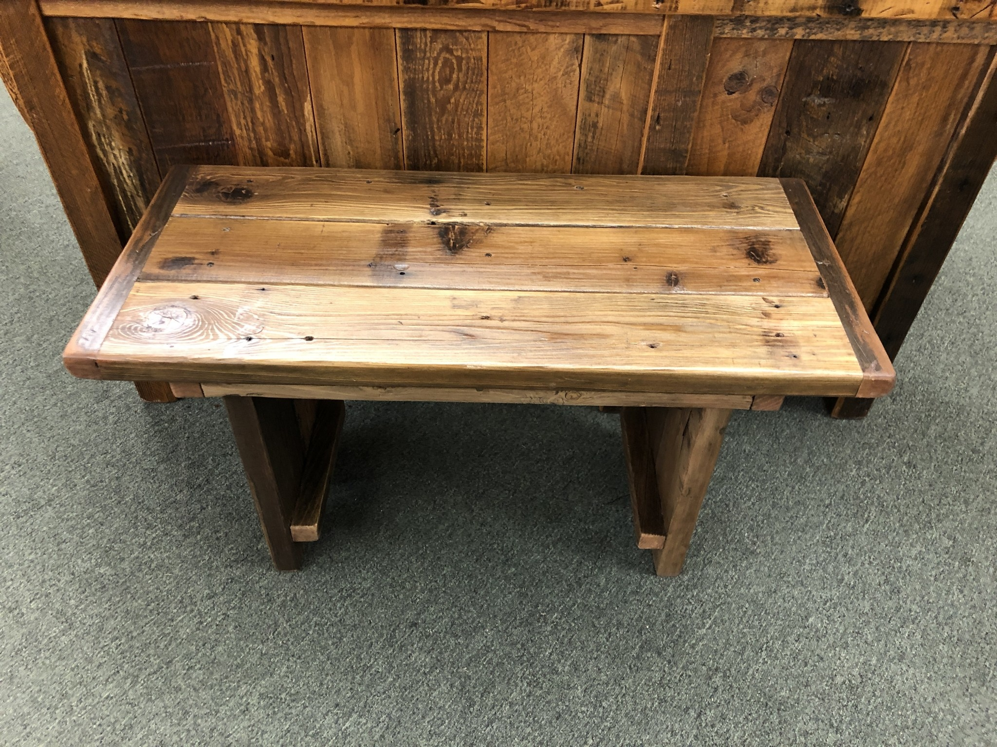"Stevenz Company Mini Reclaimed Redwood Harvest Bench (under36"")"