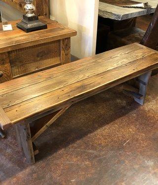 Stevenz Company 4' Reclaimed Redwood Harvest Bench