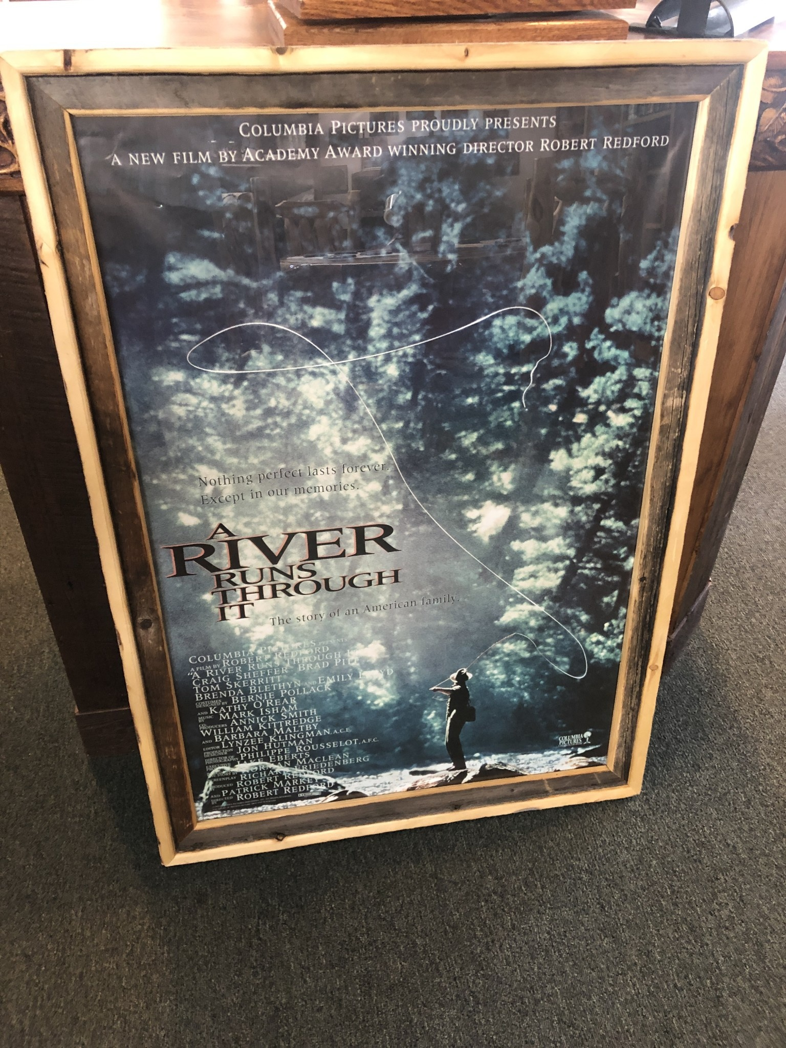 "Jerry Curtis ""A River Runs Through It"" Movie Poster Art - 30x43"